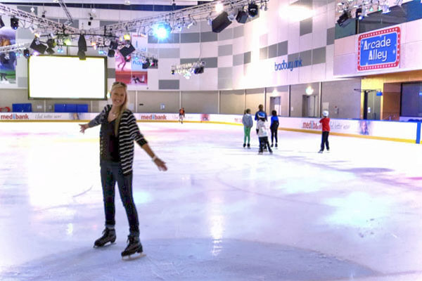 Amy at the Medibank Icehouse