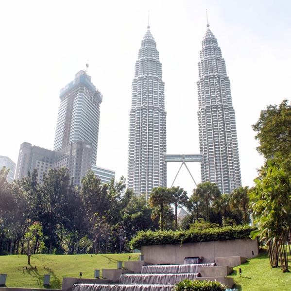 Petronas Twin Towers from KLCC Park