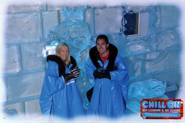 Amy and Kieron at Chill On Ice Lounge