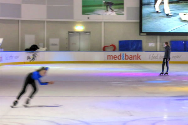 Speed Skater at Medibank Icehouse