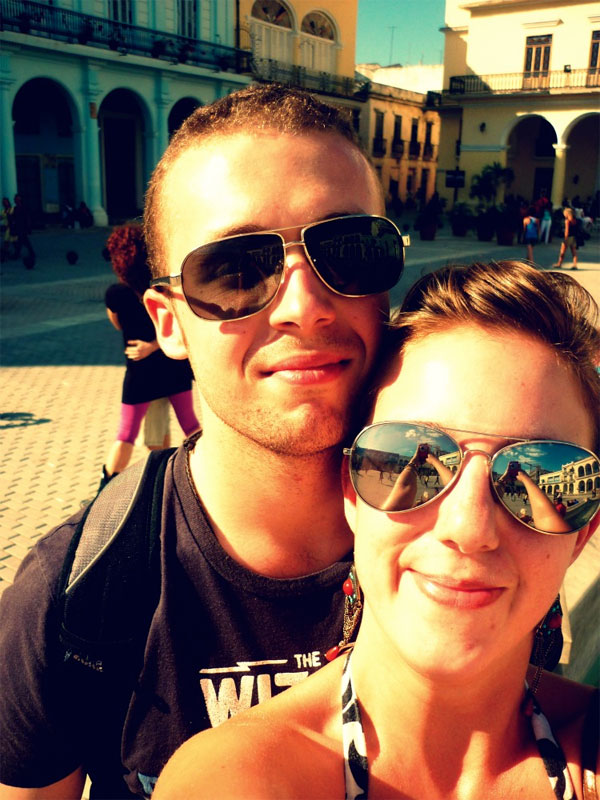 Matt and Caro in Cuba