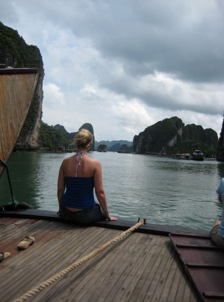 I treasure this photo from Halong Bay in Vietnam. I had a lot to think about and I came back from there a chnaged person, ready to travel the world.