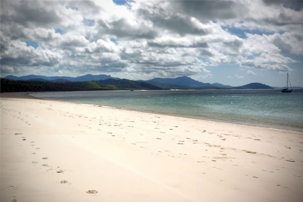 Looking towards the other end of Whitehaven Beach