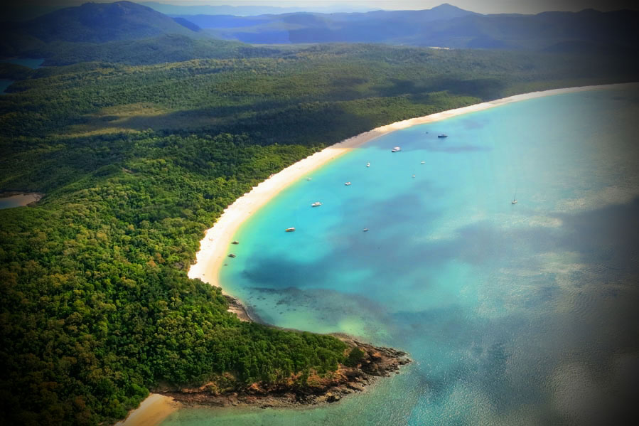 Whitehaven Beach Aerial Shot