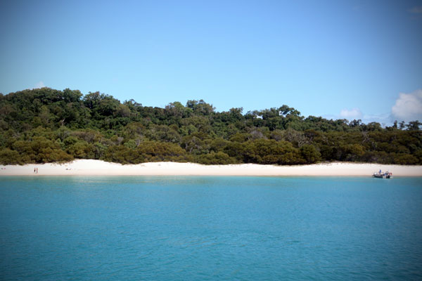 Whitehaven Beach from the Boat