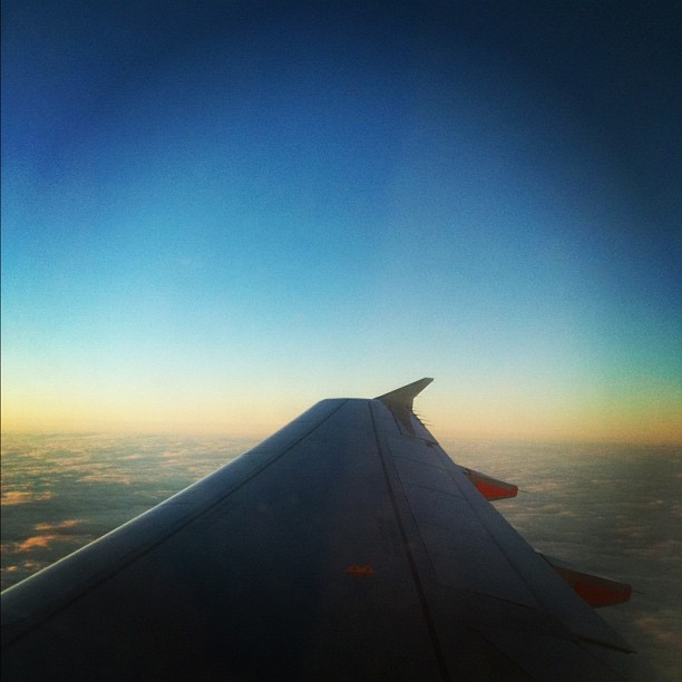 The sky out of a plane
