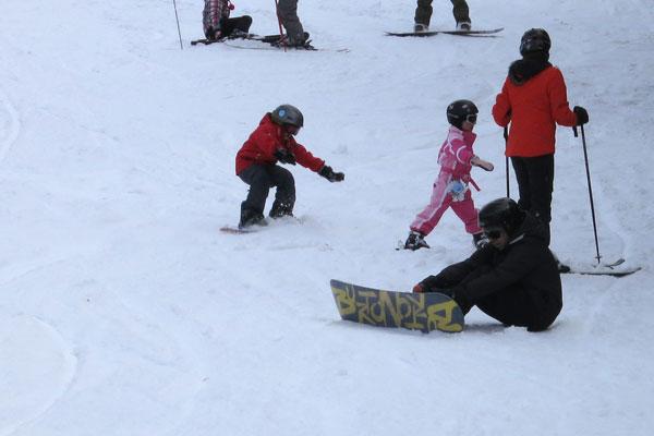 Kieron on the snow