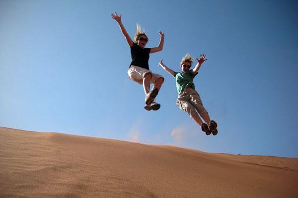 In Wadi Rum, Jordan