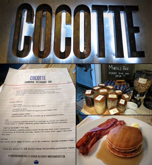 Included Breakfast at Cocotte