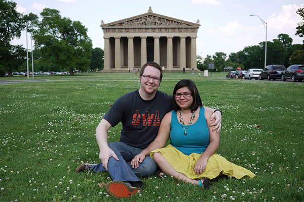 Steph & Tony in front of the Parthenon… in Nashville, TN!