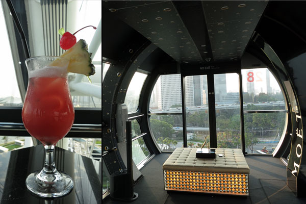 Singapore Sling on board the Singapore Flyer