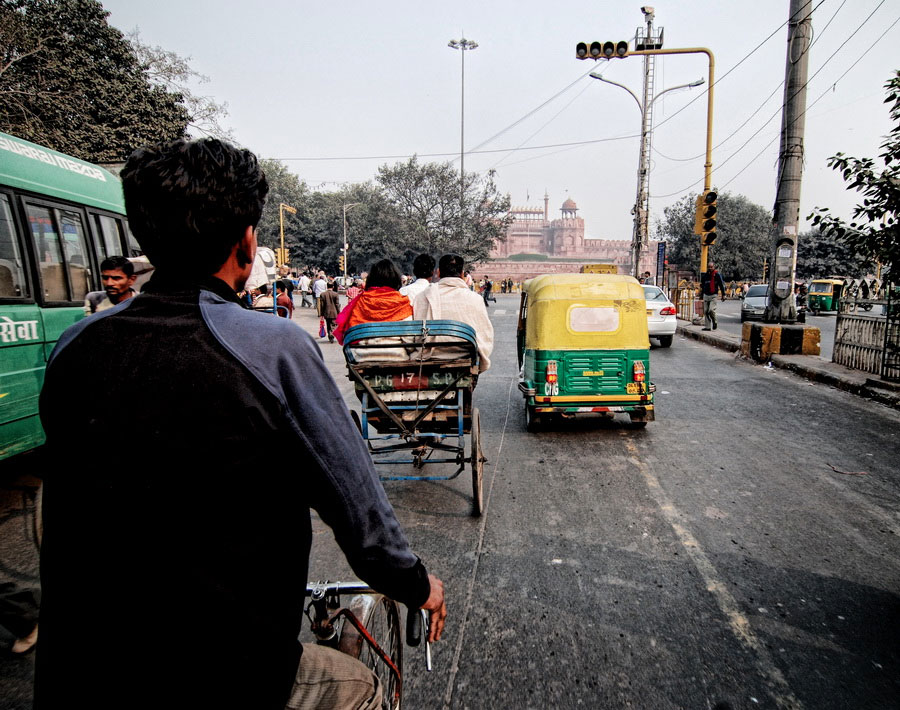 New Delhi India Rickshaw