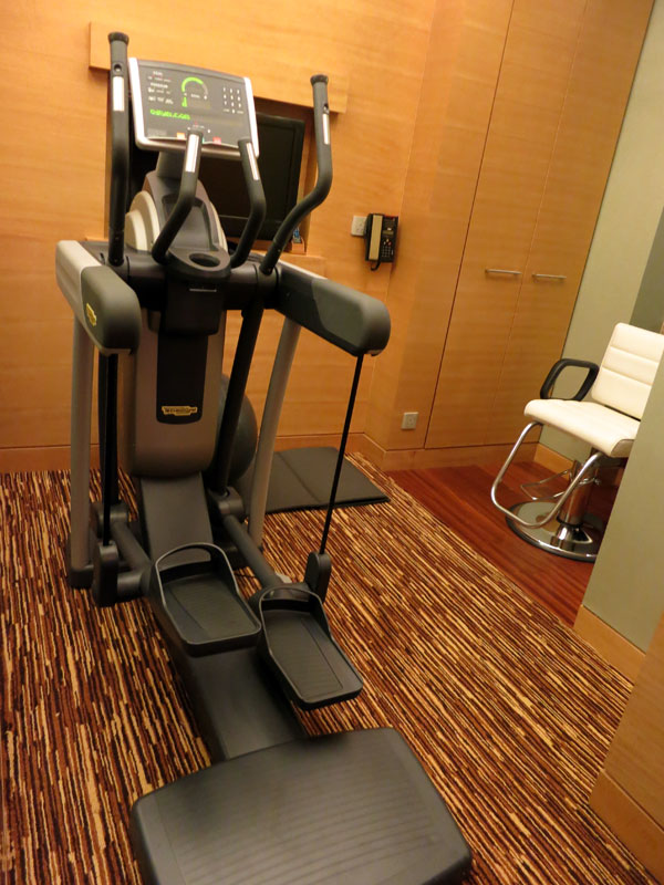 Gym and Hairdressing Table in Straits Suite at Marina Bay Sands