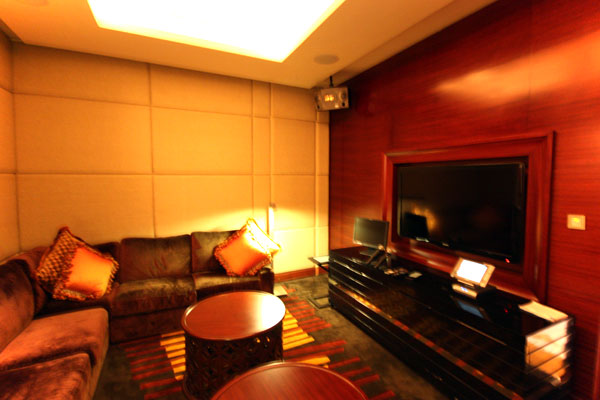 Home Theatre Room in Marina Bay Sands Straits Suite
