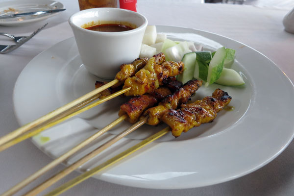 Chicken Satay at the Berjaya Resort Langkawi