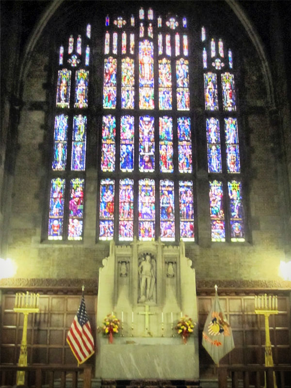 Stained Glass Windows at the West Point Military Academy Cadet Chapel
