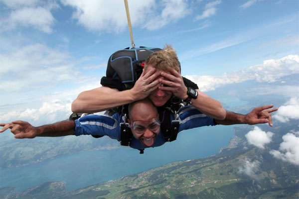 Sky Diving over the Alps