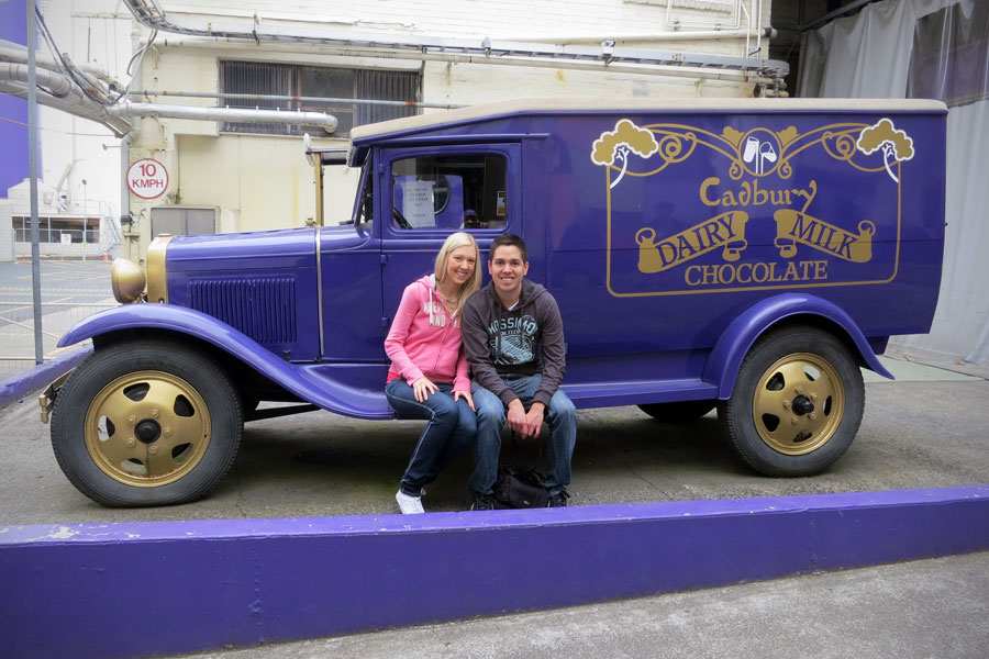 Amy and Kieron at Cadbury World