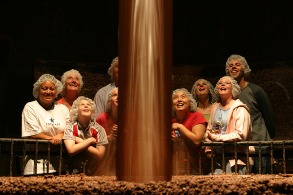Chocolate Waterfall - Photo Courtesy of Cadbury World