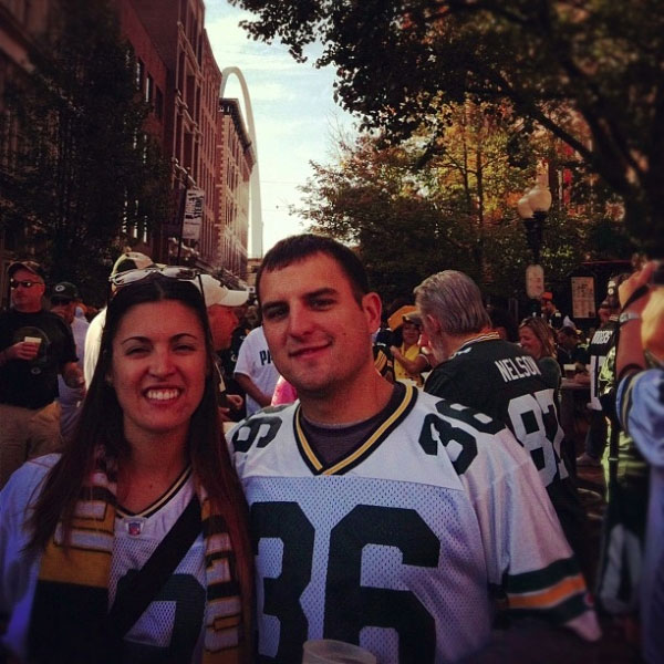 Catching a Green Bay Packers game in St. Louis 2012