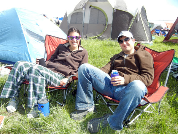 Camping at the Sasquatch Music Festival 2012