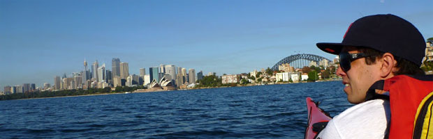 Kayaking Sydney Harbour