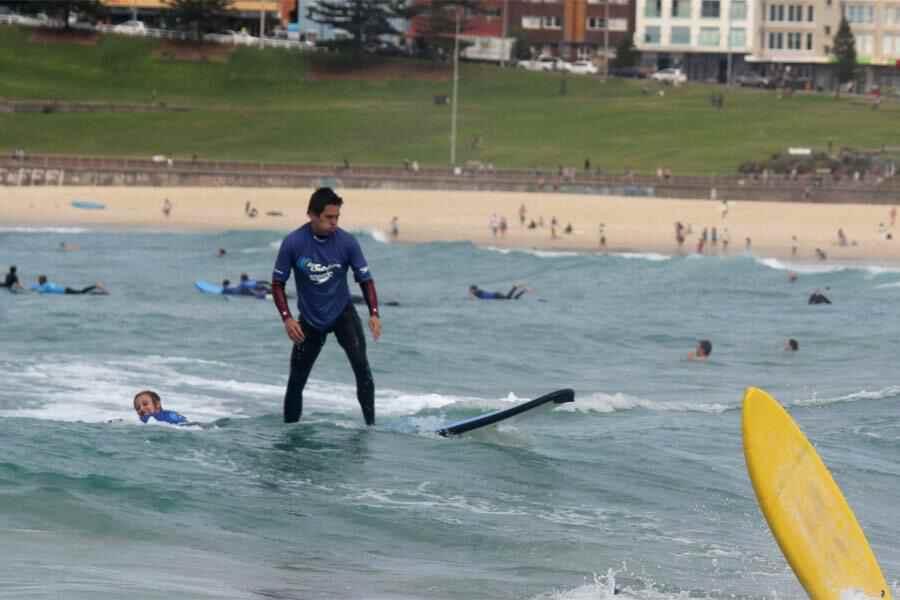Kieron surfing Bondi