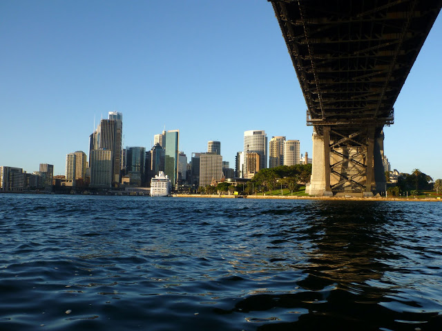 Directly underneath the Sydney Harbour Bridge