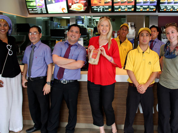 Group Shot at McDonald's Arabia