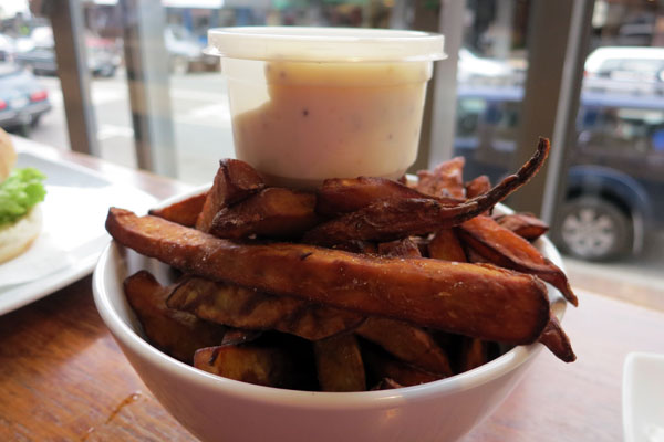 Natural Kumara Chips from Velvet Burger