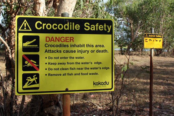 Kakadu Crocodile Warning Sign