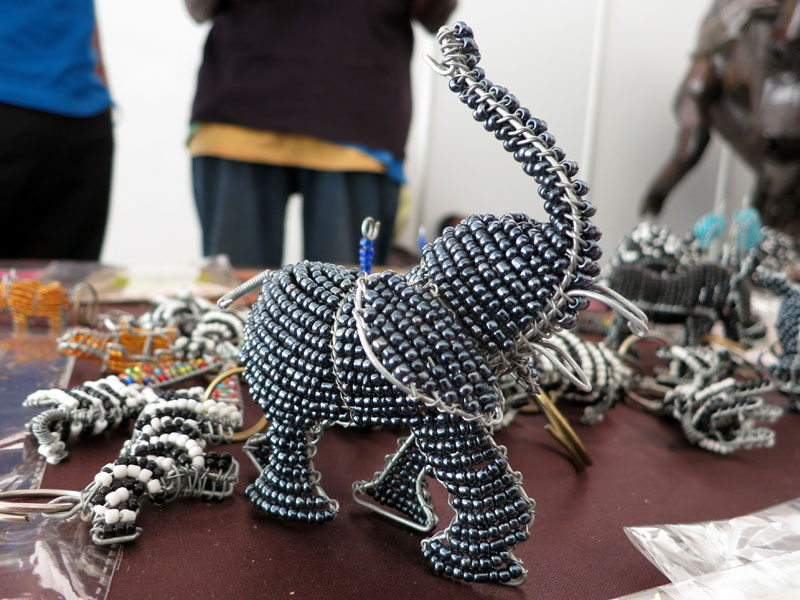 Beaded Elephant from Zimbabwe
