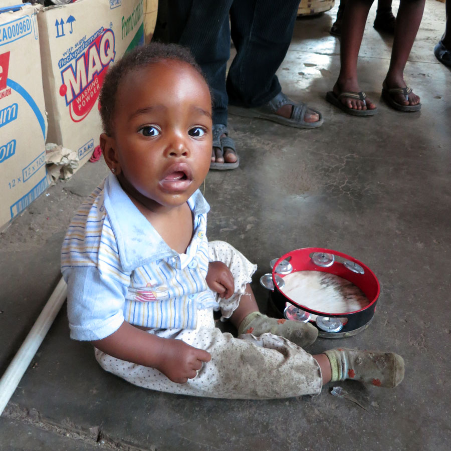 Kid in Harare Market
