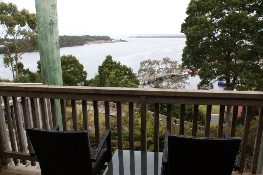View from our balcony at Strahan Village