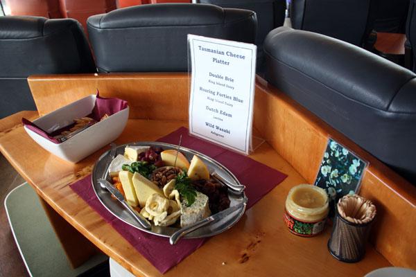 Cheese Platter on Gordon River Cruise