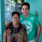 My grandmother and I in 2008 - Talisay City, Cebu.